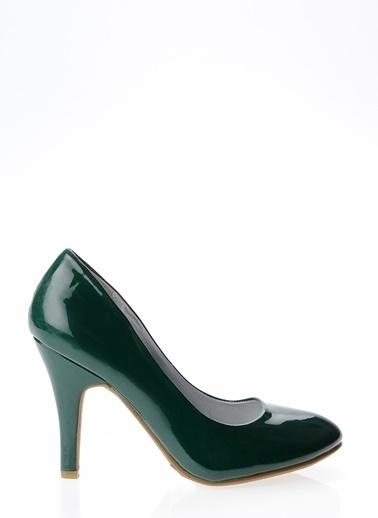 Ves Ves Deri Yeşil Düz Ayakkabı Yeşil